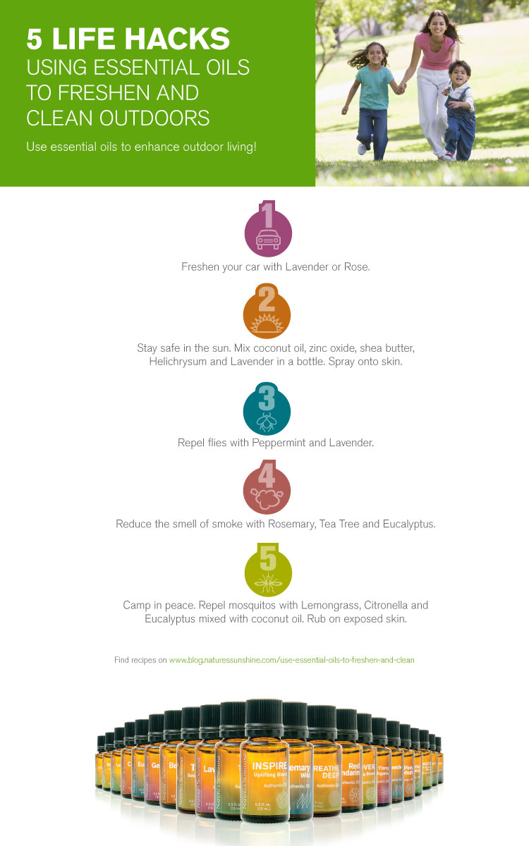 5 Life Hacks: Using Essential Oils to Freshen and Clean Outdoors