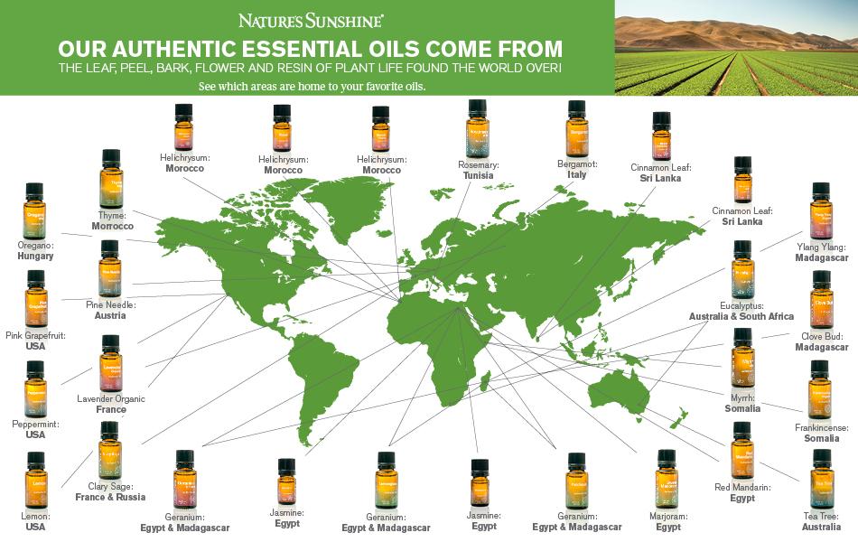 Nature's Sunshine Essential Oils Map - 2016